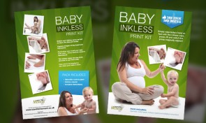 Save the moment - baby inkless printing kits design by Amazing Creative
