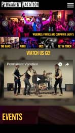 Permanent Vacation website design by Amazing Creative