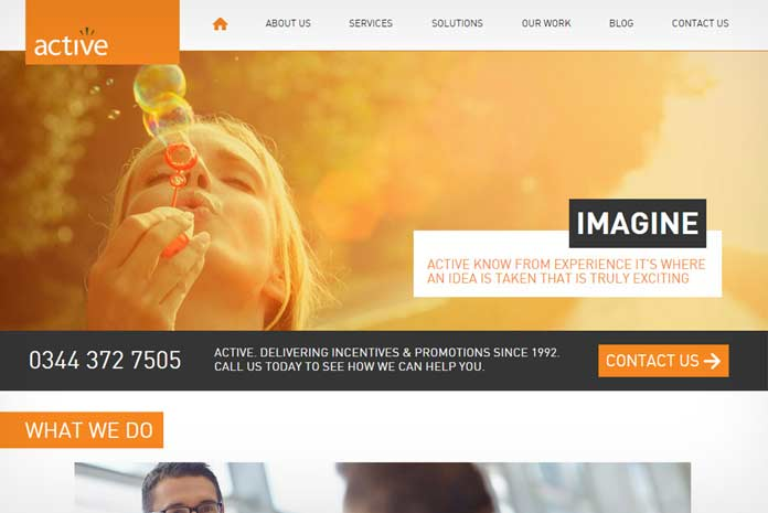 Active Consultancy website development by Amazing Creative