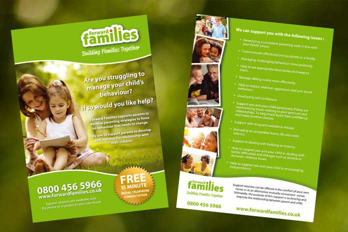 Forward Families leaflet design by Amazing Creative