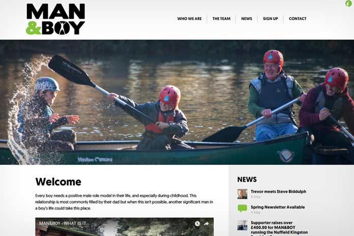 Man and Boy website design by Amazing Creative