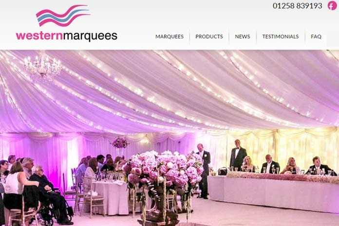 Western Marquees website design by Amazing Creative